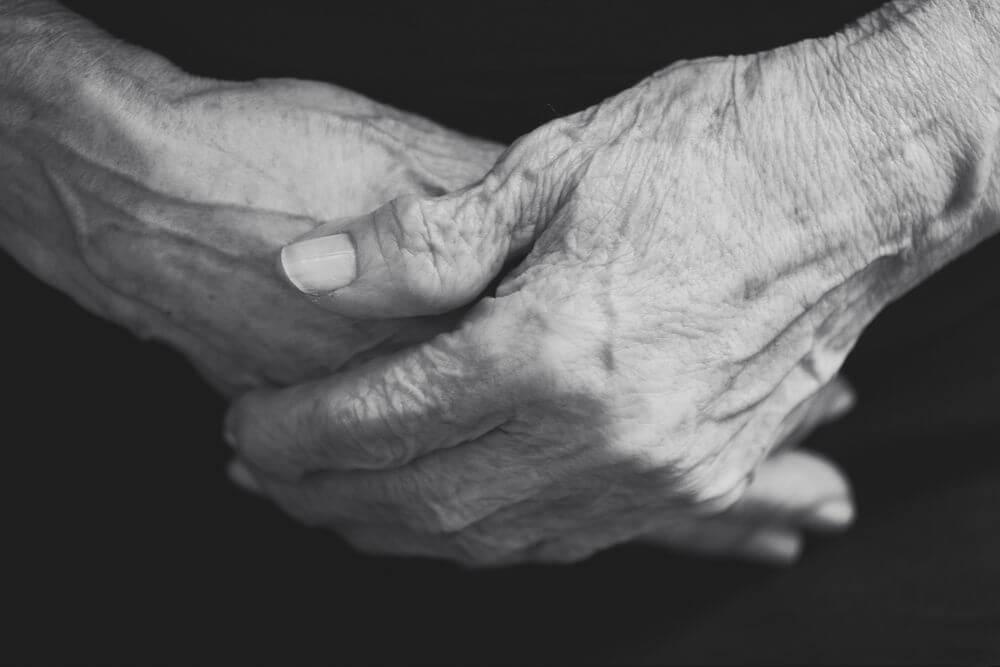 Elderly citizen hands